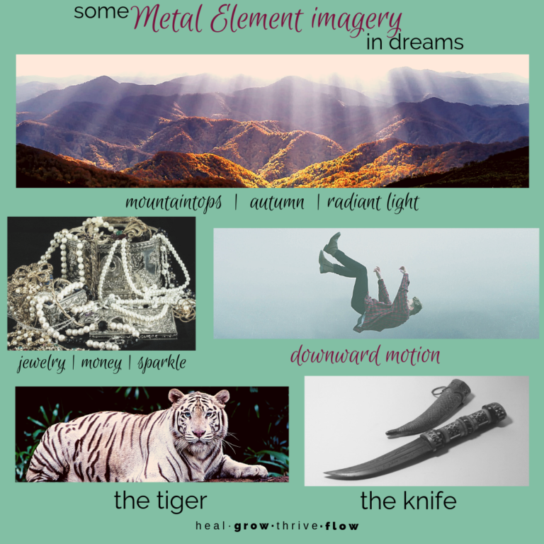 Metal imagery in dreams Five Element dream interpretation by Leilani Navar at thedreamersden.org