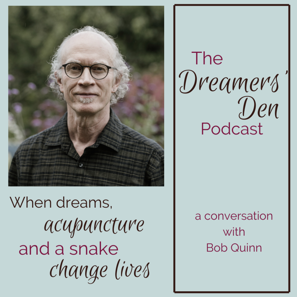 Dreamers Den Podcast Episode 5 Bob Quinn When Dreams Acupuncture and a Snake Change Lives with Leilani Navar