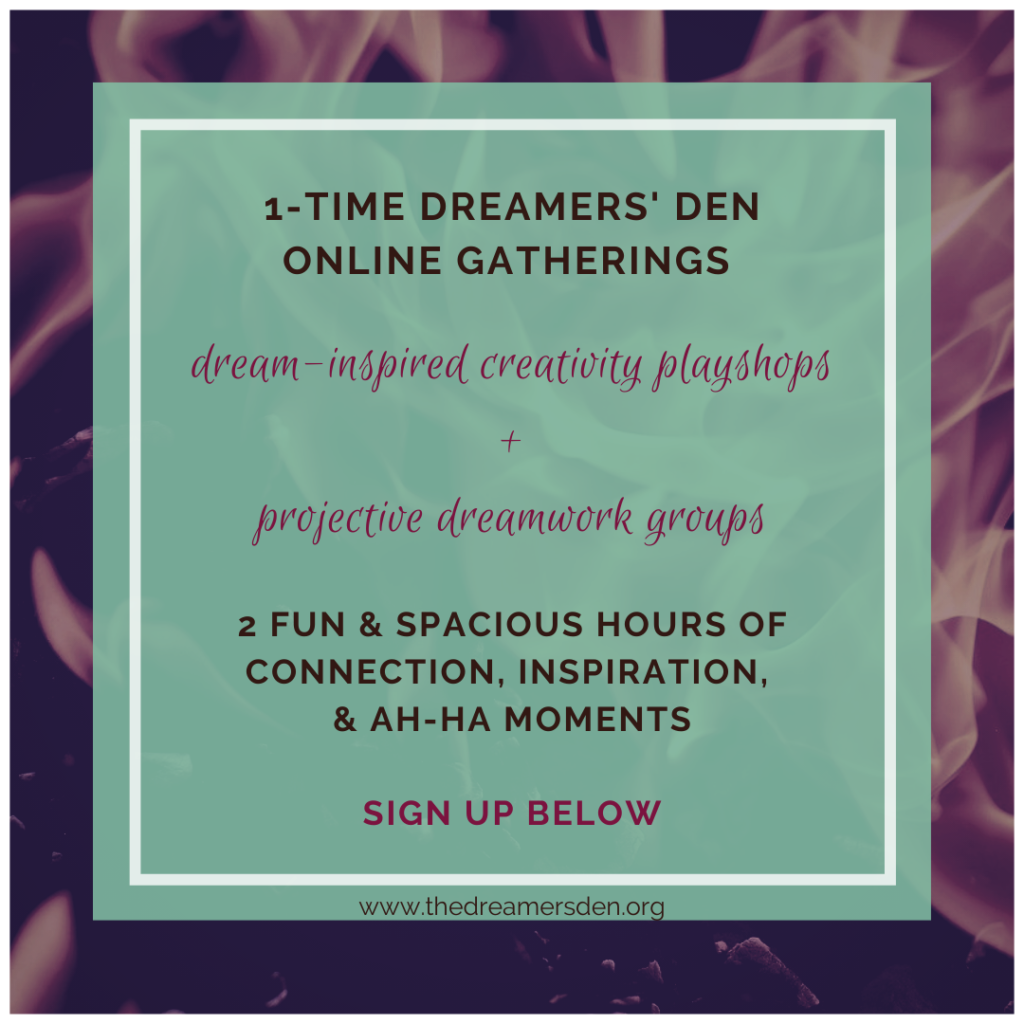 Dreamers' Den Creativity Playshops and Projective Dreamwork Dream Groups with Leilani Navar thedreamersden.org